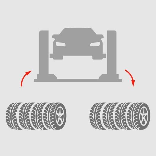 Замена колес + обязательная балансировка.